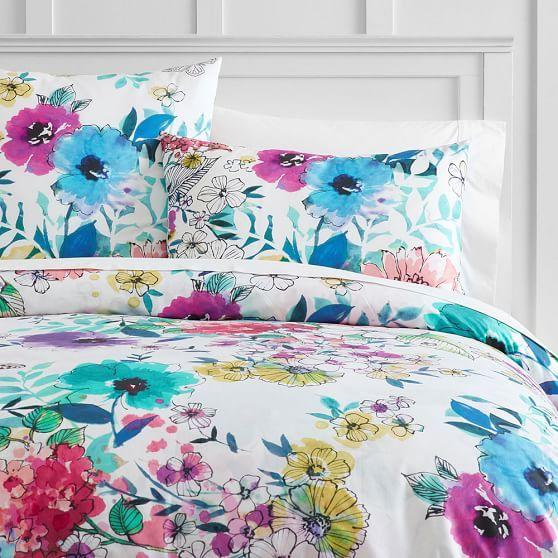 Bright Bouquet Sham Duvet Covers Floral Duvet Covers Girl Room