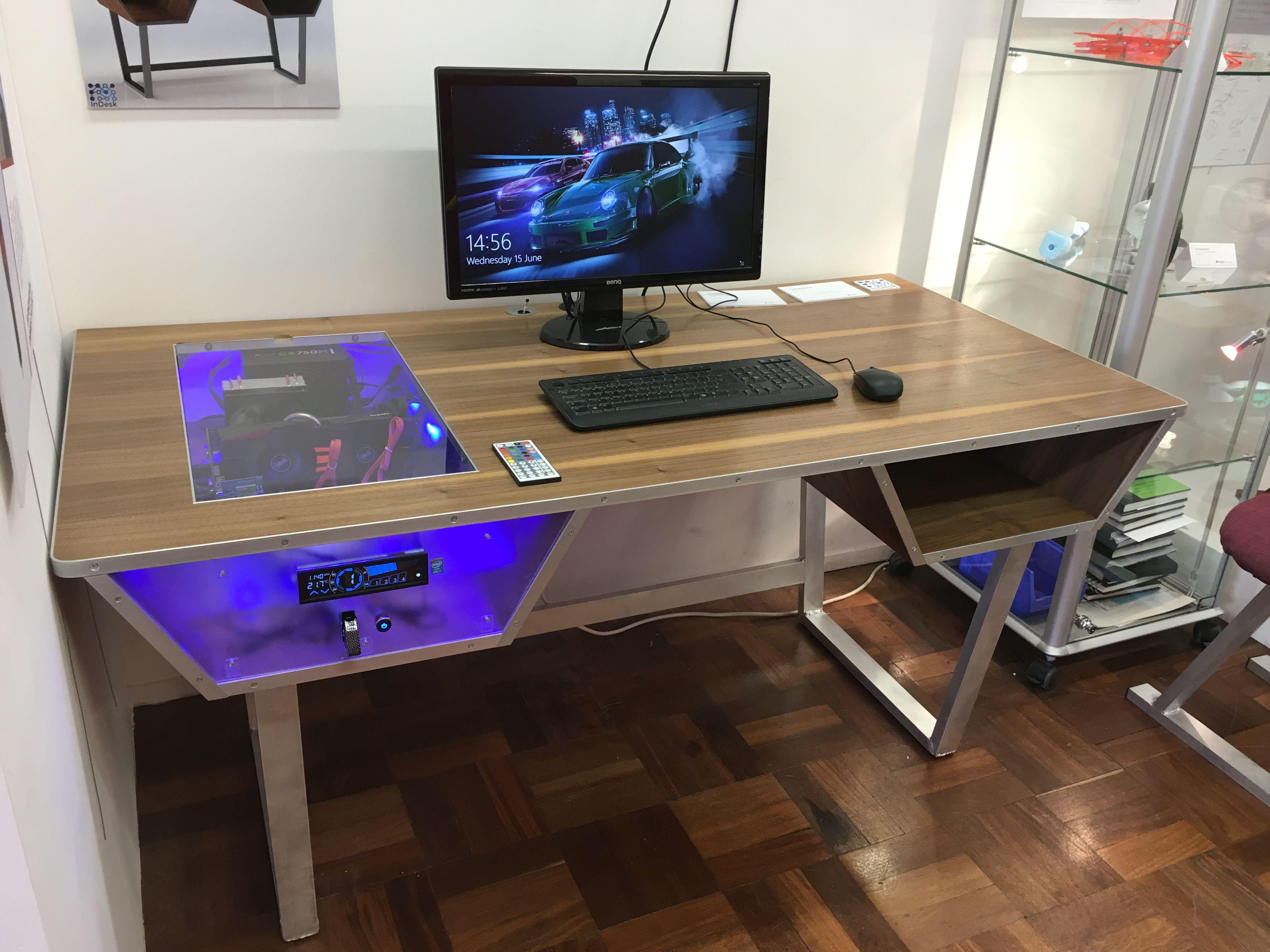 My PC desk I built in 2019  Furnishings  Diy computer