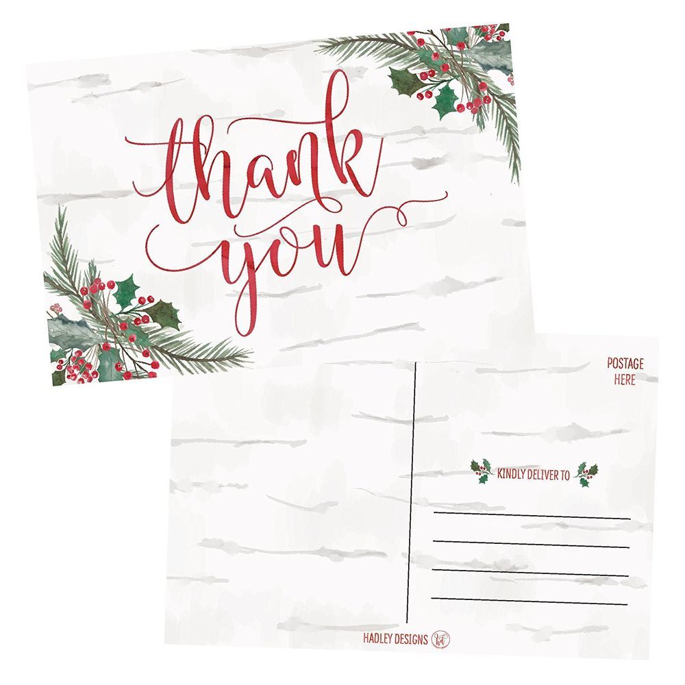 Christmas woodland holiday thank you cards 4x6 blank postcards set christmas woodland holiday thank you cards 4x6 blank postcards set of 25 hadleydesigns christmas kristyandbryce Image collections