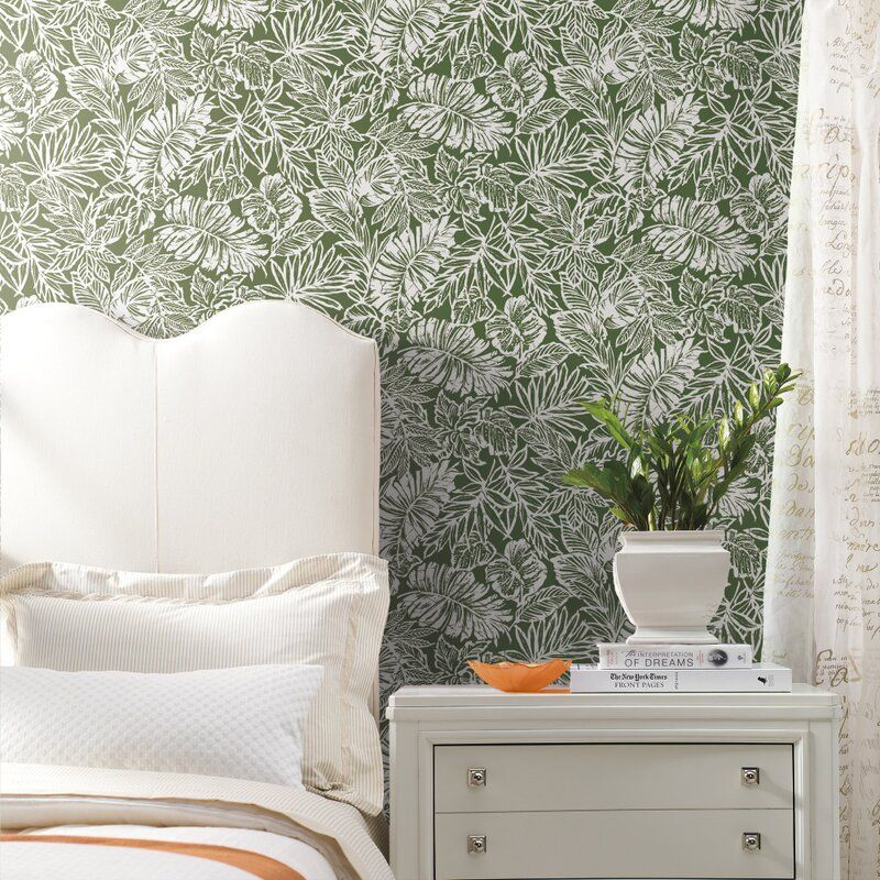 Eshelman Batik Tropical Leaf 16 5 L X 20 5 W Peel And Stick Wallpaper Roll In 2021 Peel And Stick Wallpaper Wallpaper Roll Wall Coverings