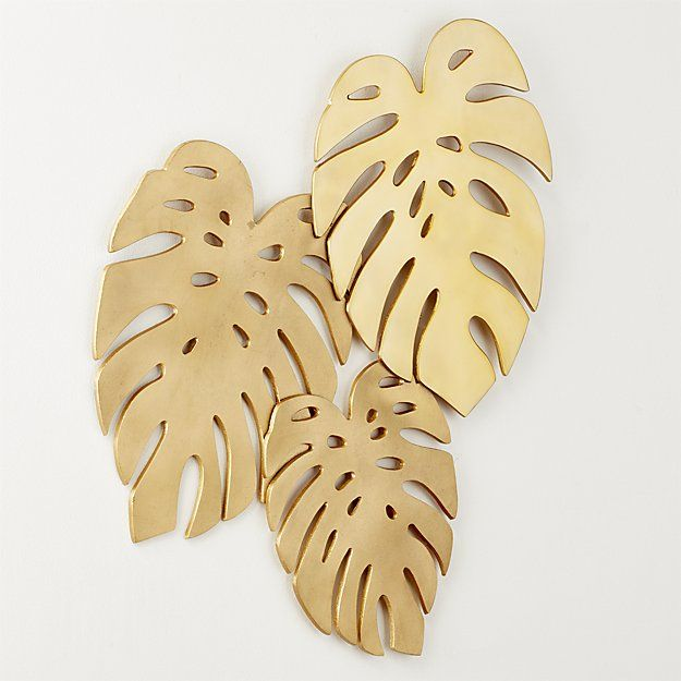 CB2 Monroe Monstera Leaves Wall Decor | Pinterest | Wall decor ...