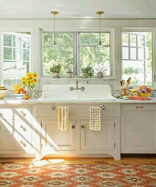 Towel Bar On Sink And That Sink Farmhouse Kitchen Decor