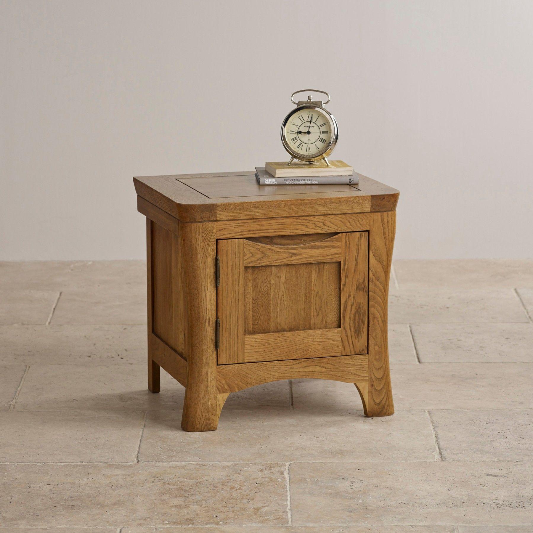The Orrick Rustic Solid Oak 1 Door Nightstand