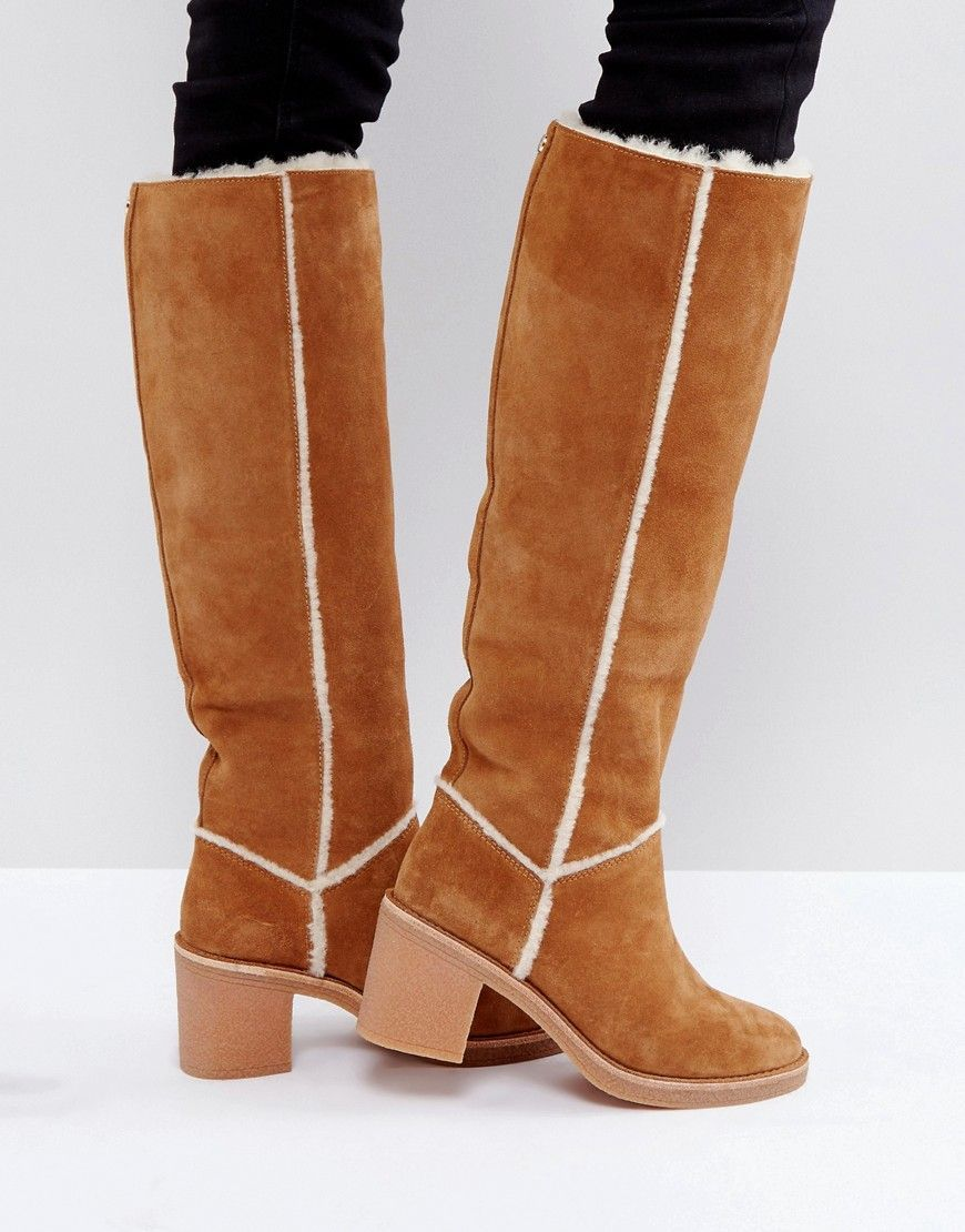 d50db9791d64 UGG Tall Heeled Knee Boots Chestnut  ad