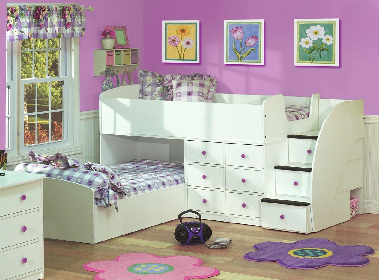 Best Berg L Shaped Low Loft Bed Sierra Collection Brg 22 905 400 x 300
