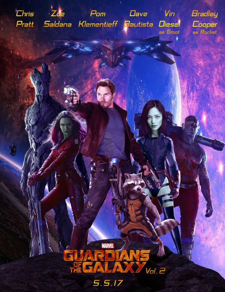 Poster From The Film Guardians Of The Galaxy Vol 2 Movie In 2019