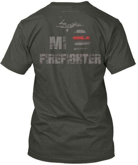 Michigan Firefighter Thin Red Line T-Shirt