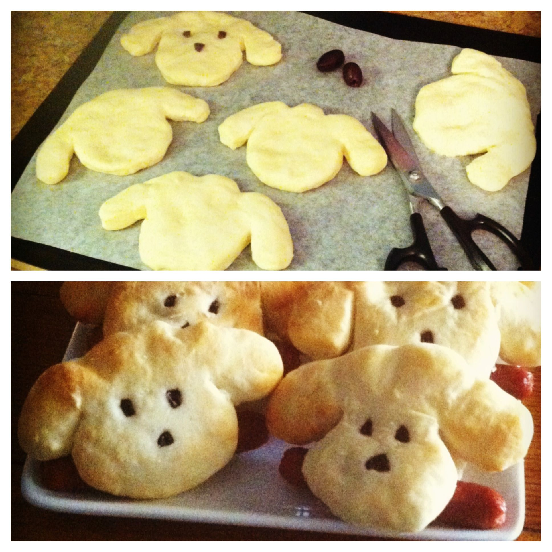 Puppy Buns For Hot Dogs. Made These For My Daughter's