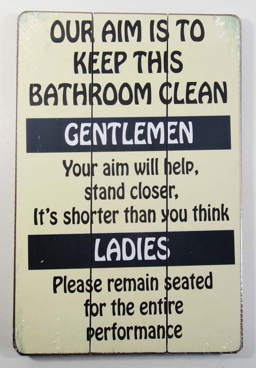 Bathroom Signs For Cleanliness