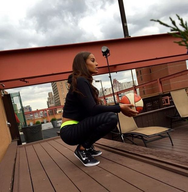 Skylar Diggins in the Nike Kobe 9 Low