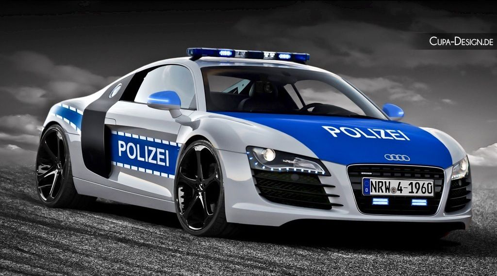 Audi R8 Police Interceptor Definitely Not Getting Away This Time