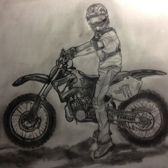Dirt Bike Drawing Bike Drawing Motorcycle Drawing Bike Sketch