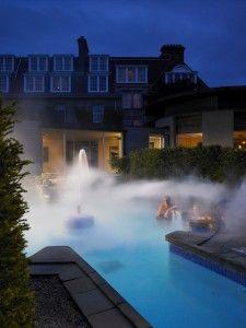 Outside Spa Pool Gleneagles Hotel Perthshire Scotland