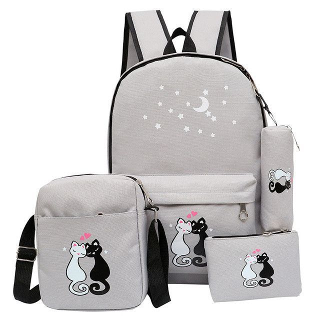 women backpack schoolbag korean rucksack cut school bags for teenager girls  student bag set canvas backpacks 68ccc91917e50