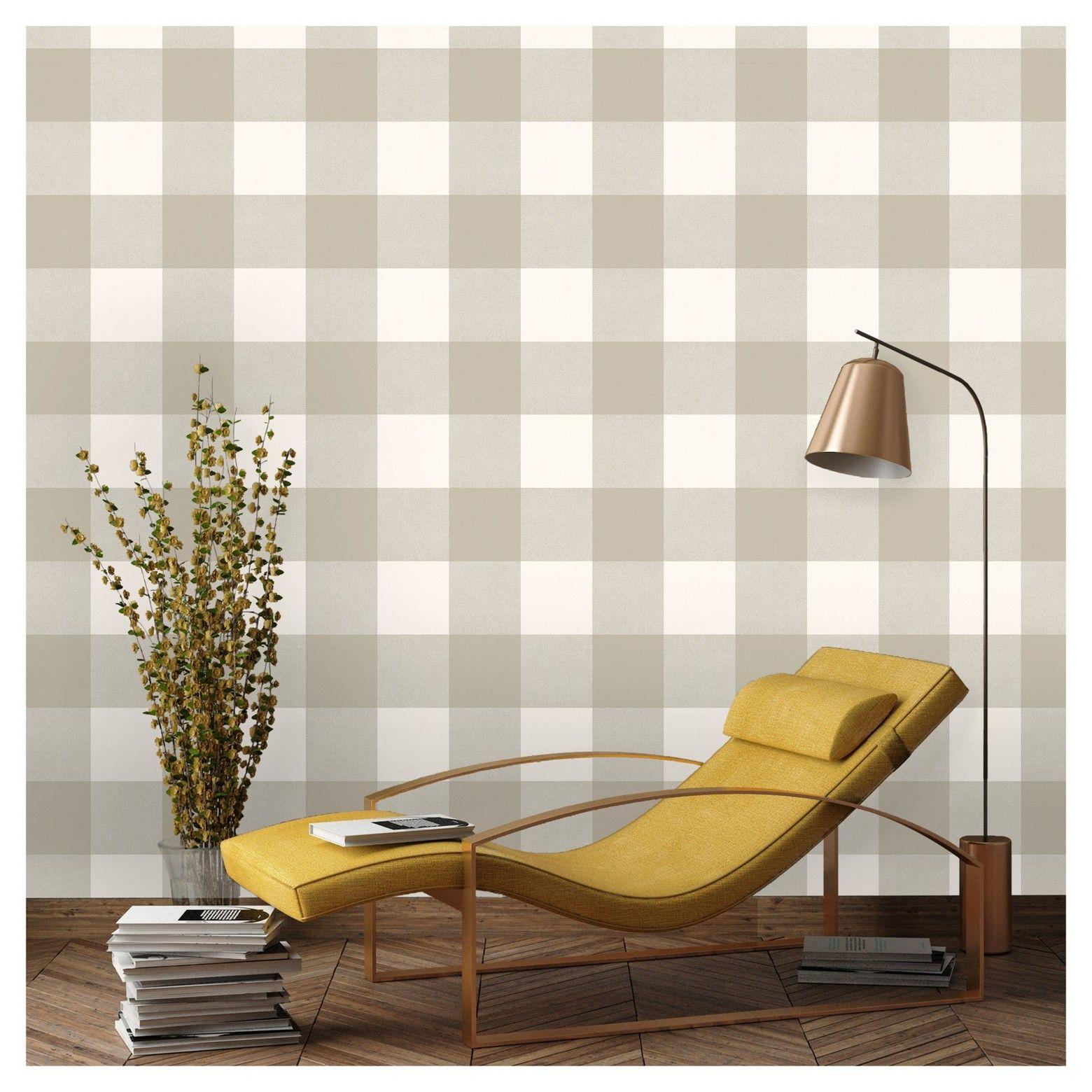 Devine Color Buffalo Plaid Peel & Stick Wallpaper Twig and