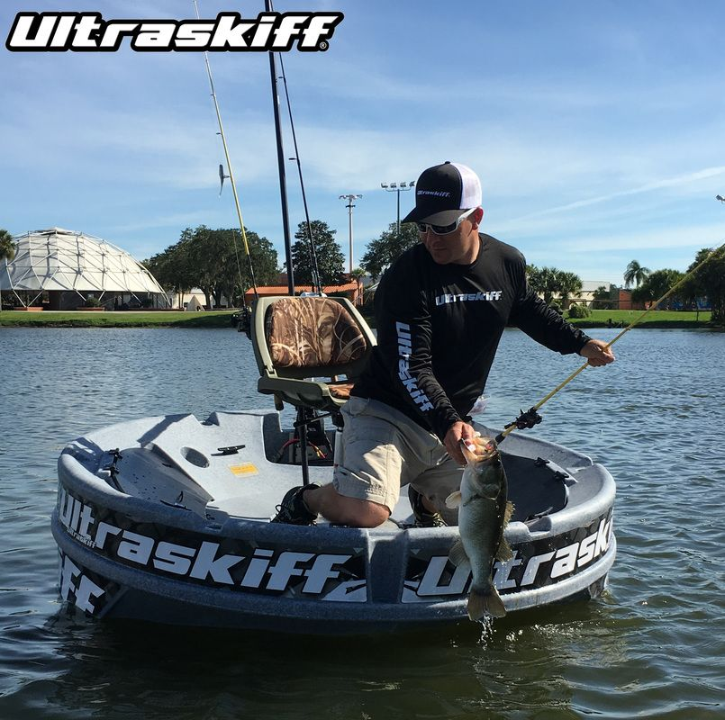 Florida largemouth bass caught from an ultraskiff fishing for Personal fishing boat