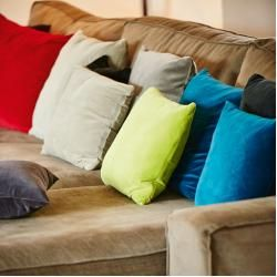 Photo of Nicky pillow incl. Filling 40×40 platinum gray Color friendsColor friends