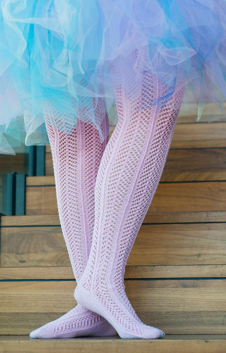 64431239e Free Knitting Pattern for Pia Ballerina Stockings - Pretty arrrowhead lace  forms delicate chevrons on these thigh high stockings by Senja Jarva.