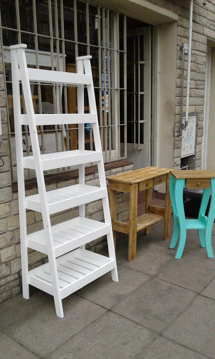 Repisa escalera verdulera 1 80 mts con seis estantes - Madera para estantes ...
