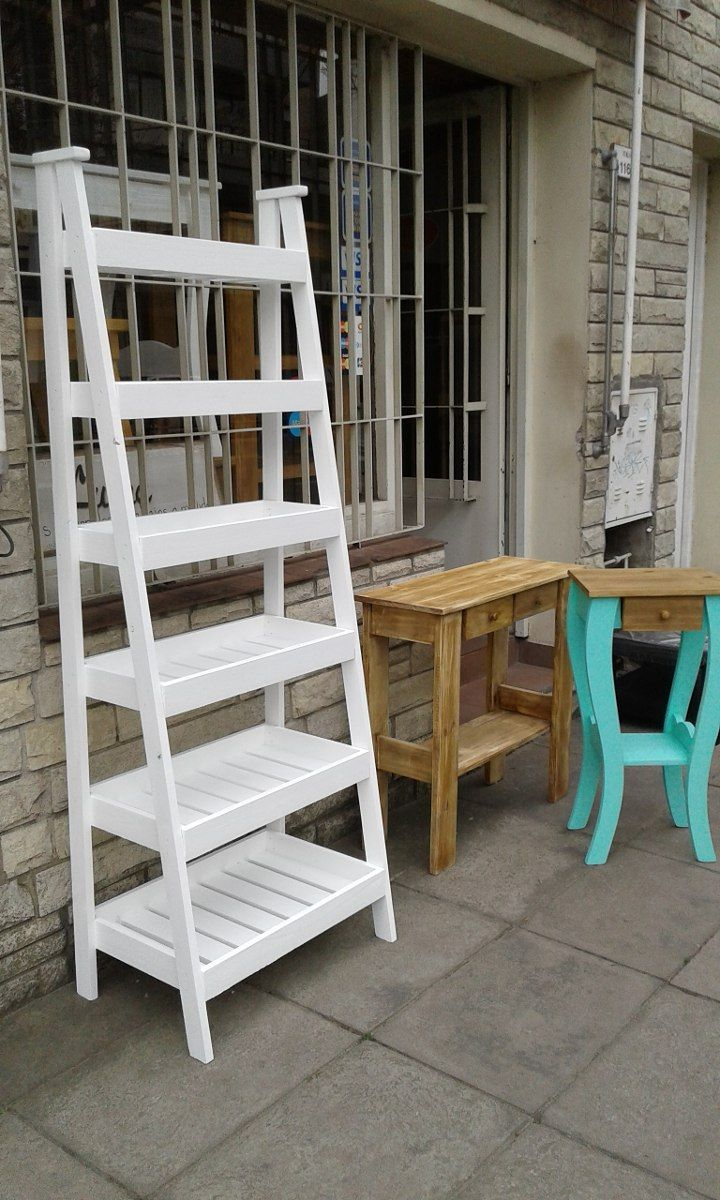 Repisa escalera verdulera 1 80 mts con cinco estantes - Macetas de madera ...