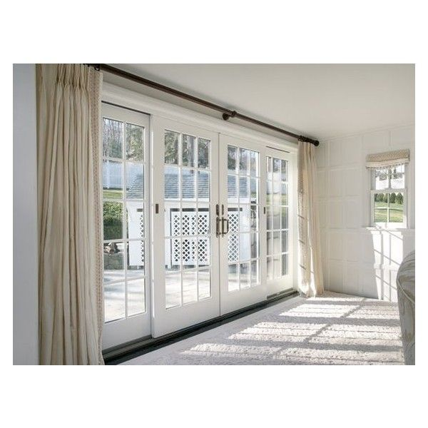 Sliding French Patio Doors Liked On Polyvore Featuring Home