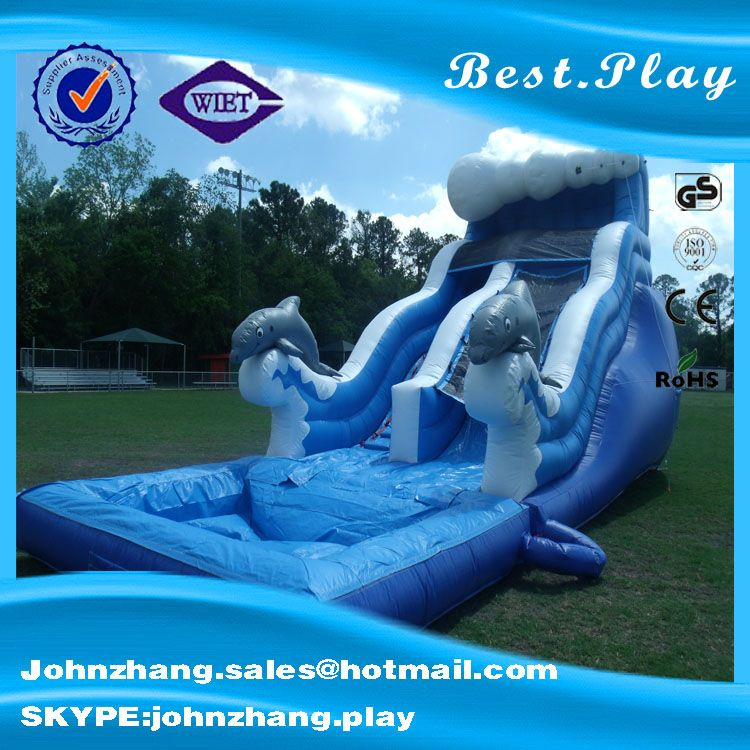 New design China cheap inflatable pool slide used inflatable water