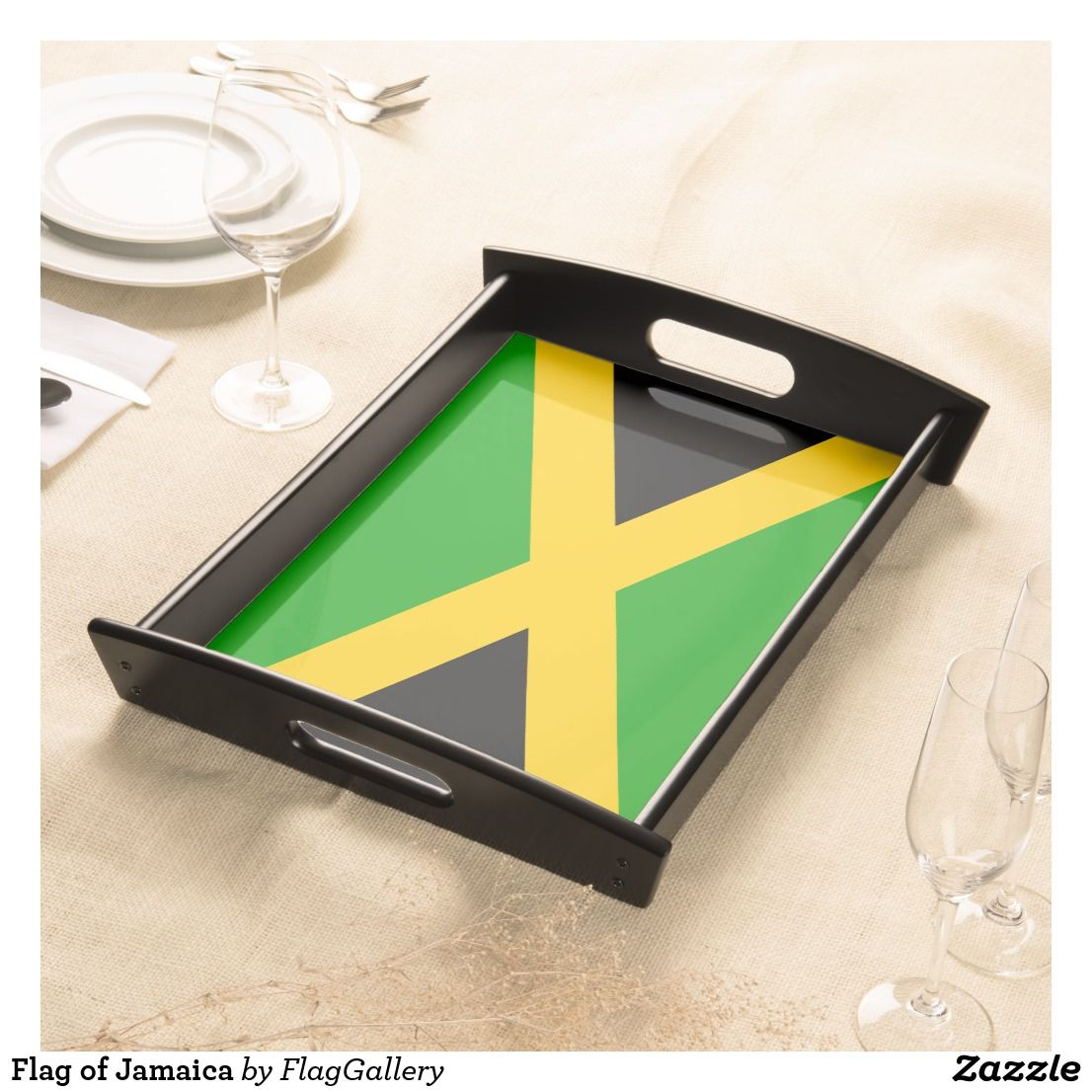 Flag Of Jamaica Serving Tray