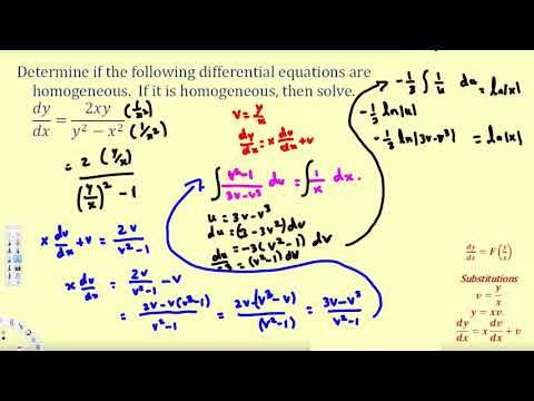 Solve A First Order Homogeneous Differential Equation 2