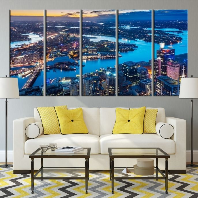 Extra large wall art sydney canvas print from very high taken extra large wall art sydney canvas print from very high taken sydney landscape gumiabroncs Images