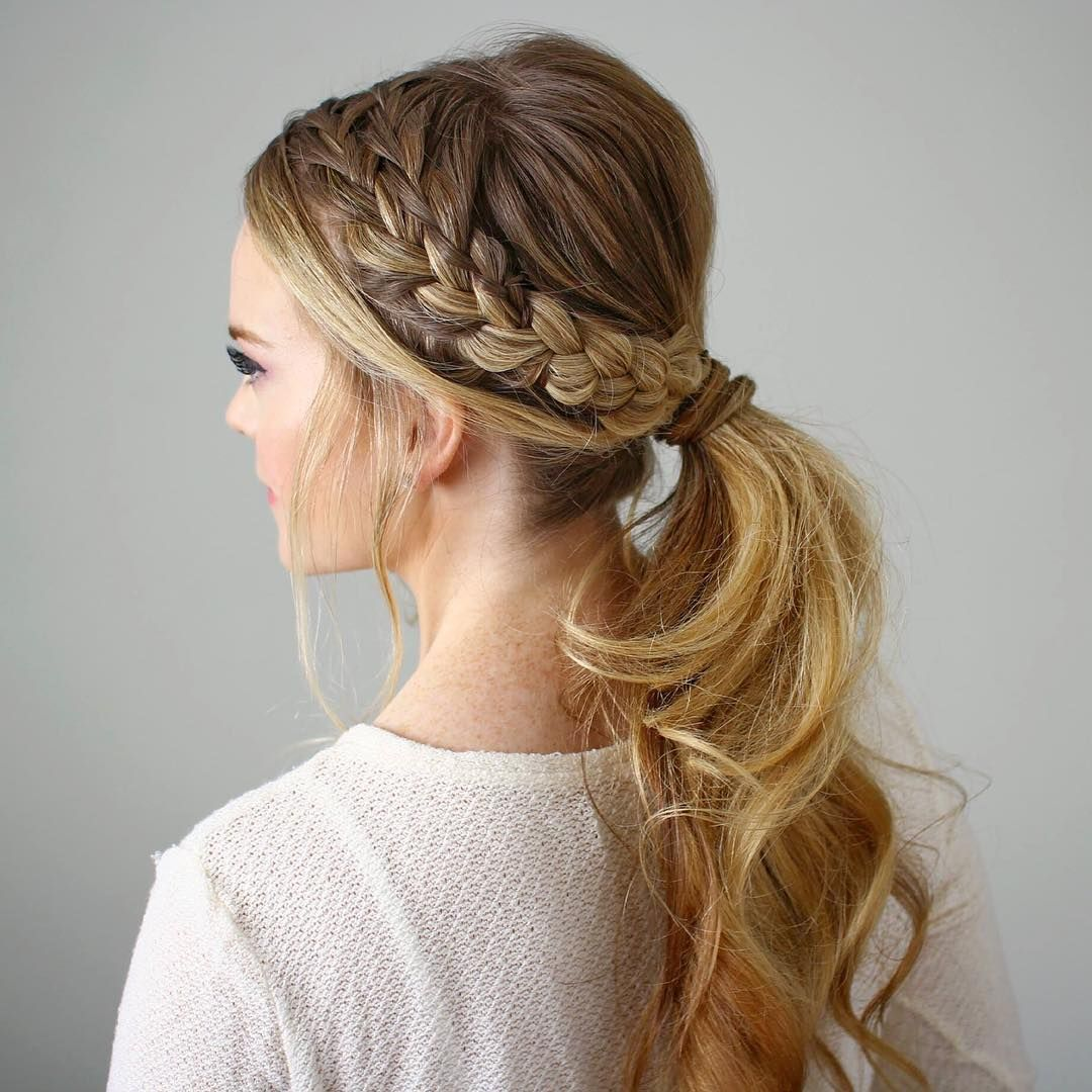 Braided Hairstyles 5 Ideas For Your Wedding Look: «Double Braided Ponytail Hope Everyone Had A Great