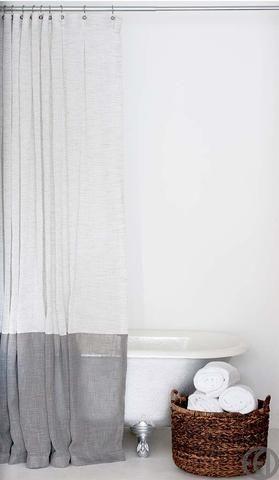 Hemp Shower Curtain Gray Shower Curtains Fabric Shower Curtains