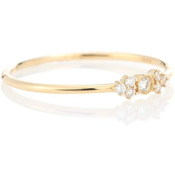 Stone Paris Monroe 18kt gold and diamond ring