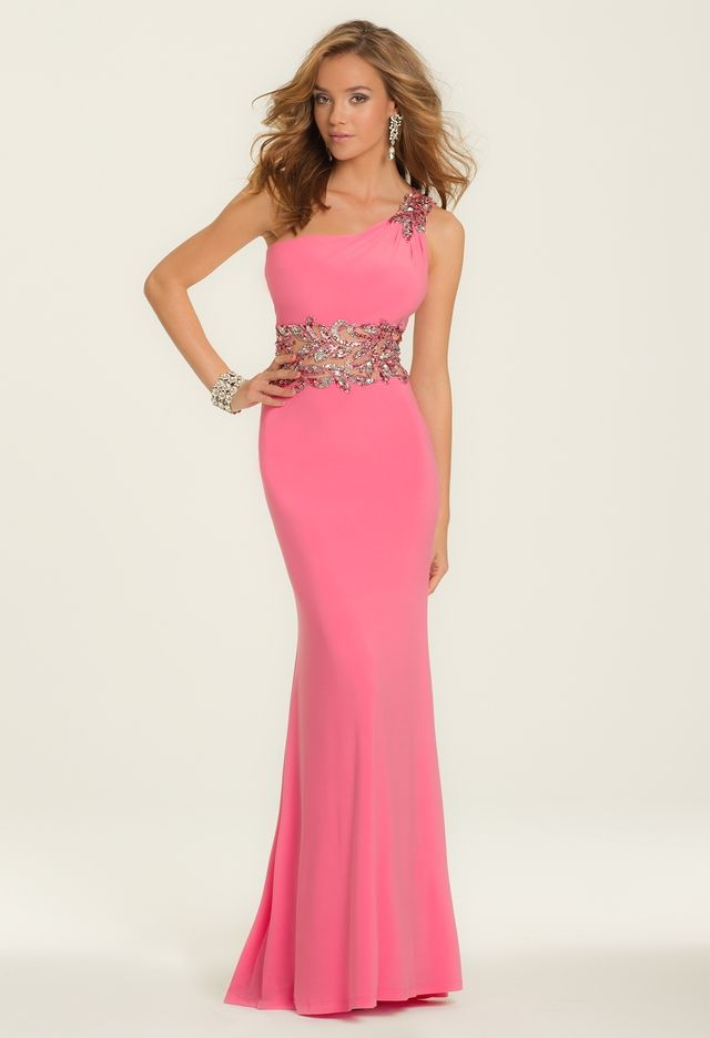 Sequin Beaded Illusion Dress from Camille La Vie and Group USA ...