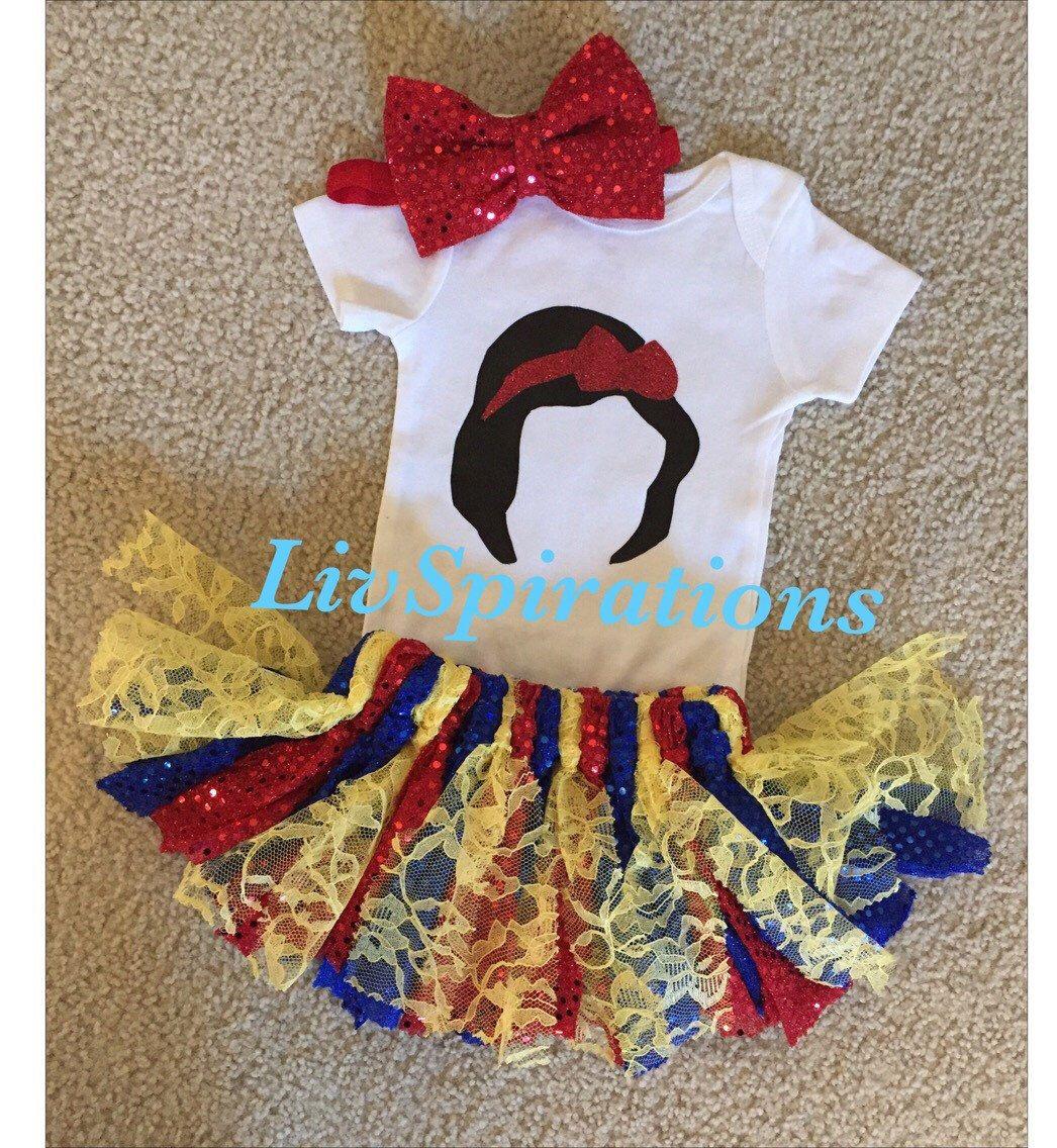 Snow white apron etsy - Snow White Birthday Outfit Disney Outfit Princess Outfit Birthday Outfit Photoshoot First Disney Outfit Day At Disney First Birthday Outfit