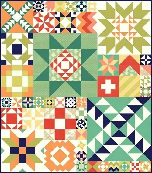 Colorful blocks.