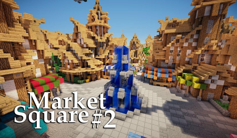 Minecraft: Medieval Market Square Tutorial  Part #122/122 #12  HTSYMC
