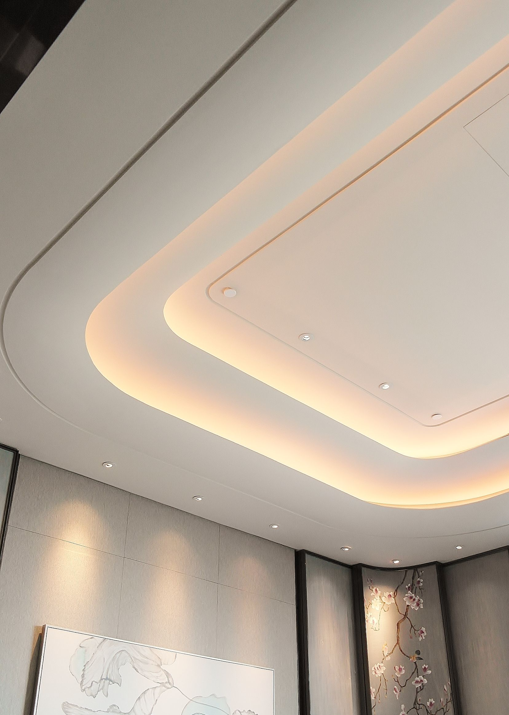 Chinese Restaurant Vip Private Dining Room Ceiling Design Modern