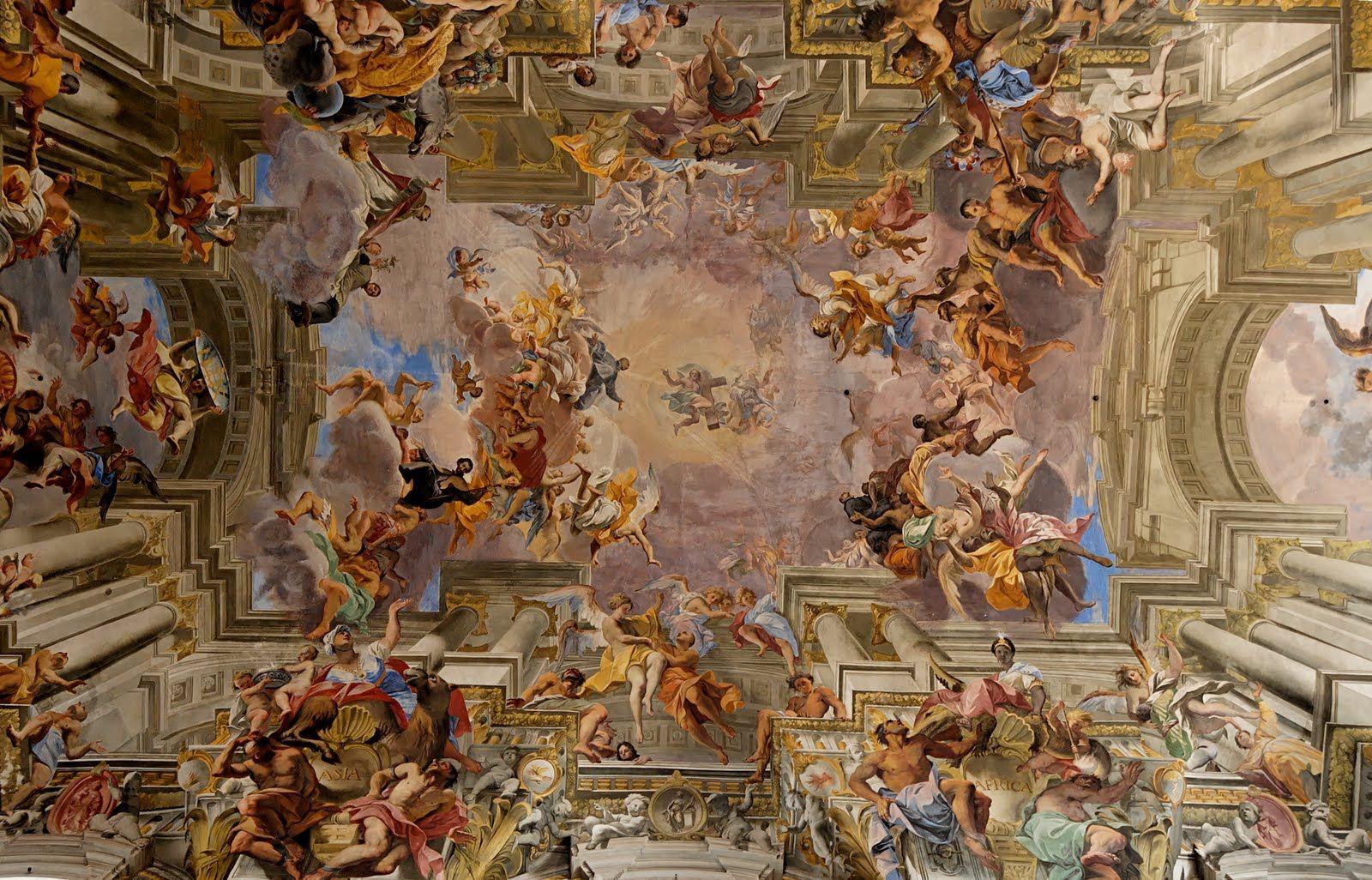 Triumph of st loyola by pozzo ceiling fresco in entry way triumph of st loyola by pozzo ceiling fresco in entry way dailygadgetfo Image collections