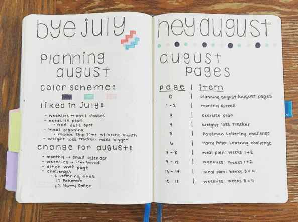 """Planning the """"planning"""" of the next month in your Bullet Journal - Nerd alert! I love this idea!"""