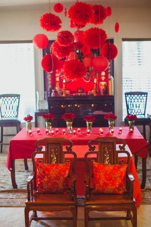 Lot De 4 Pompons Wedding Wedding Ceremony Decorations Chinese