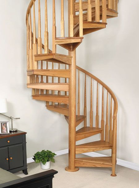 Wooden Spiral Stairs Custom Wood Stairs Spiral Staircase Plan