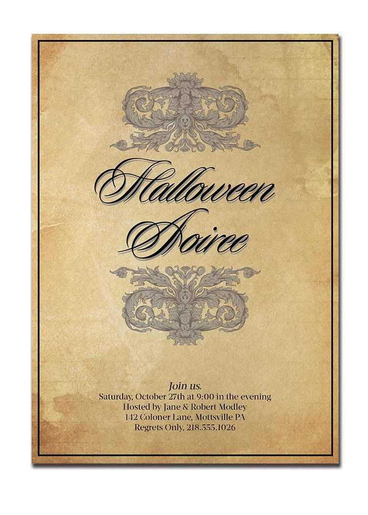 Collection Elegant Halloween Party Invitations Pictures ...