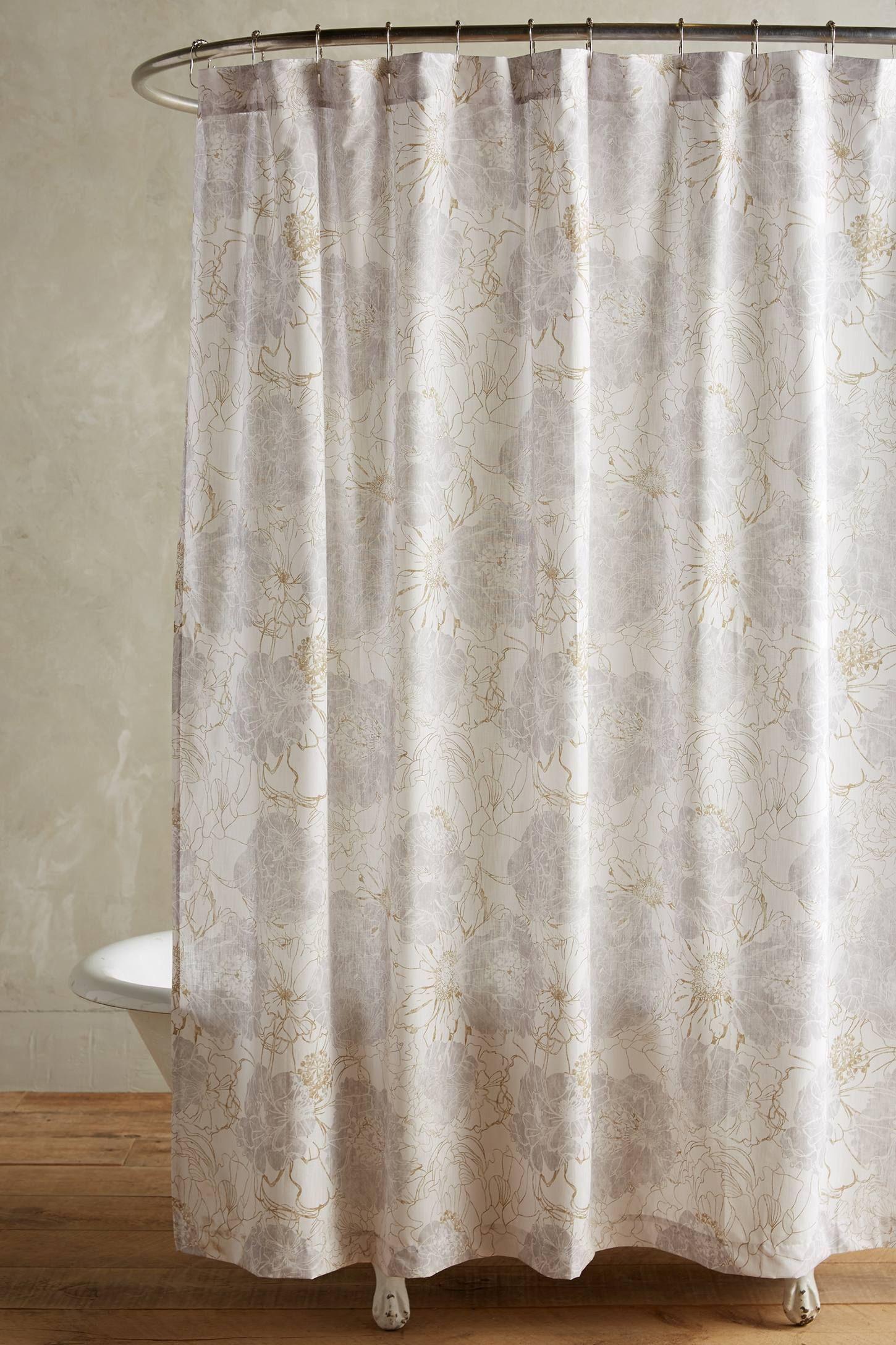 Tropical Blossom Shower Curtain