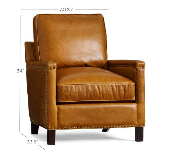 $1299.00 Tyler Leather Armchair | Pottery Barn