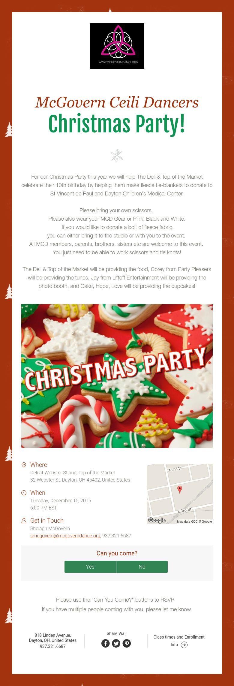 McGovern Ceili Dancers  Christmas Party!