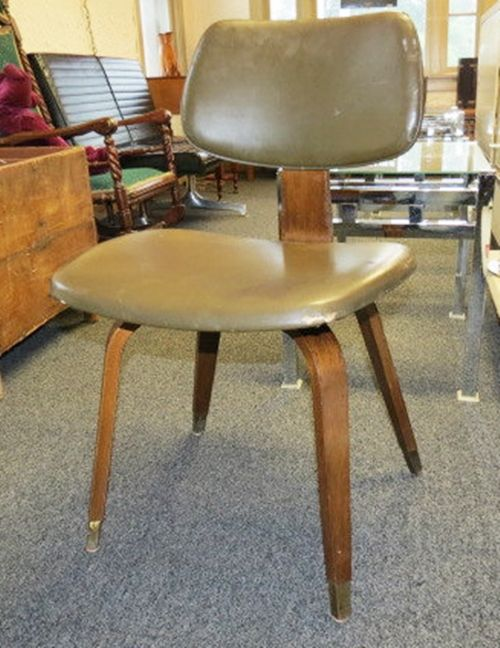 EAMES Era Thonet Bent Plywood Chair With Brass Feet   Vintage Retro C@@L
