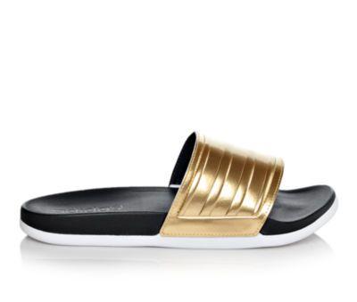6ab6537865b8 adidas slides in gold