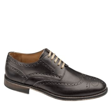 Johnston & Murphy: HEMPSTEAD WINGTIP - Black Italian Calfskin