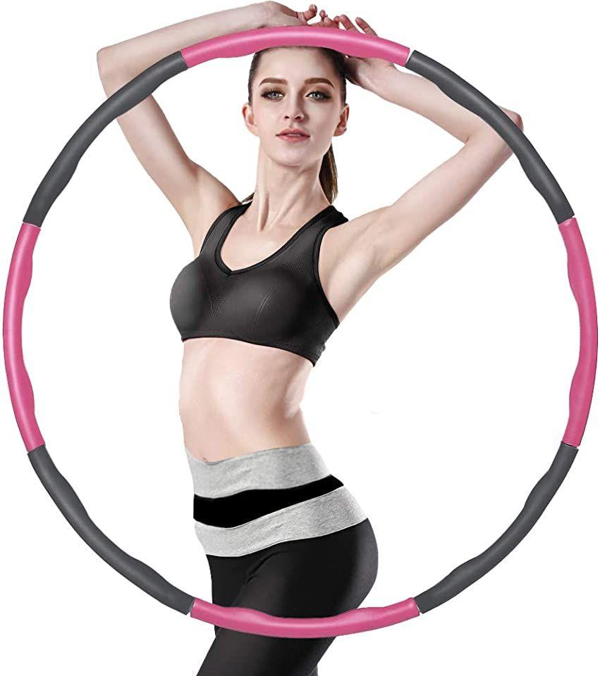 XSIUYU Hula Hoop Reifen, Smart Hula Hoop Reifen Erwachsene Kinder Junge 6-8 Segmente Abnehmbarer Ho