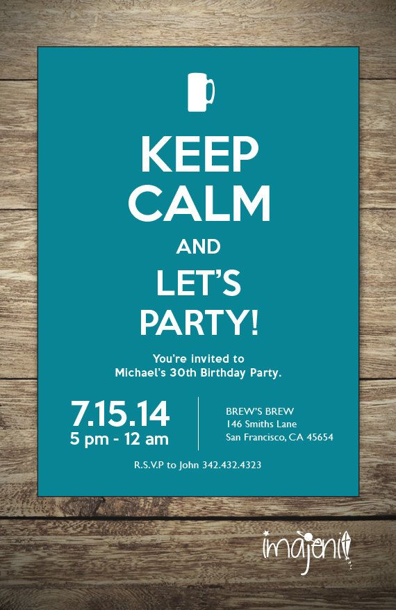 Keep calm invitation adult party invitations by imajenit creative keep calm invitation adult party invitations by imajenit filmwisefo